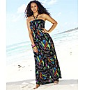 Tall Feather Print Maxi Dress