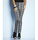 Petite Snake Print Jeggings