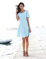 Textured Jersey Skater Dress