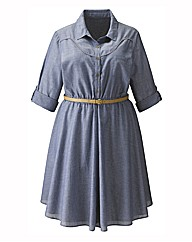 Western Chambray Shirt Dress