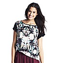Woven Front Digital Mirror Print Top