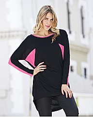 Colour Block Top with Georgette Panels