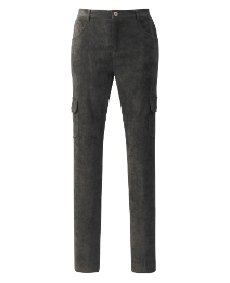 Skinny Leg Cord Cargo Trousers