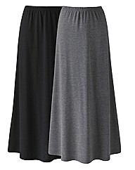 Pack of 2 Jersey Maxi Skirts