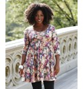 Long Sleeve Floral Tunic Dress
