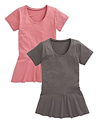 Pack of 2 Peplum T Shirts