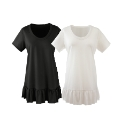 Pack of 2 Frill Hem Tops