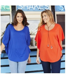 Pack of 2 Jersey Cape Style Tops