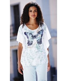 Butterfly Print T-Shirt