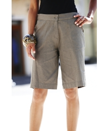 Button Up Linen Shorts