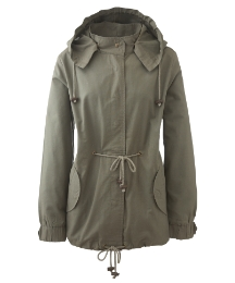 Parka Jacket with Detachable Hood