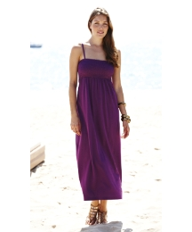 Shirred Jersey Maxi Dress