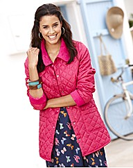 Cord Trim Quilted Jacket