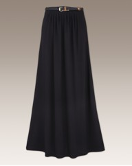 Jersey Maxi Skirt And Belt