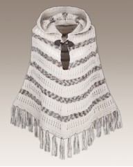 Knitted Hooded Poncho