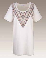 Diamond Printed T Shirt