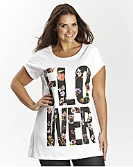 Flower Graphic Boyfriend T-Shirt