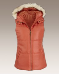 Faux Fur Trim Padded Gilet