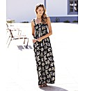 Petite Leaf Print Maxi Dress
