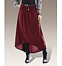 Petite High Low Hem Skirt And Belt