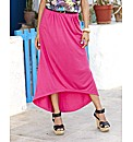 Jersey High Low Hem Skirt And Belt