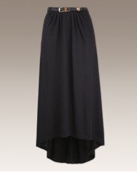 Tall High Low Hem Skirt And Belt