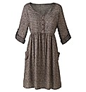 Petite Woven Skater Tunic Dress