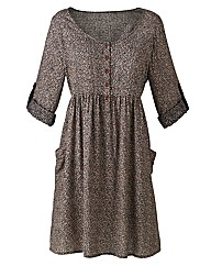 Tall Woven Skater Tunic Dress