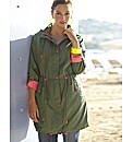 Neon Trim Parka Style Jacket