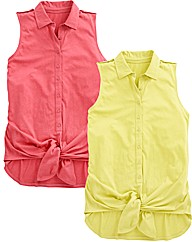 Pack of 2 Tie Waist Tops