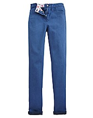 Skinny Coloured Turn Up Jeans