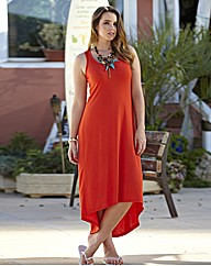 Plain High Low Hem Maxi Dress