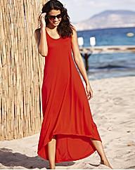 Plain High Low Hem Maxi Dress