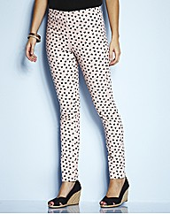 Nude Heart Print Jeggings