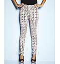 Tall Nude Heart Print Jeggings