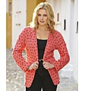 Coral Bow Print Jersey Blazer