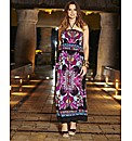 Scarf Print Maxi Dress