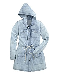 Denim Parka Jacket