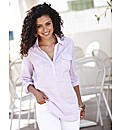 Pinstripe Shirt with Roll-Up Sleeve