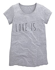 Love Is Print Boyfriend T Shirt