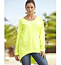 High Low Hem Sweat Top