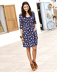 Butterfly Print Skater Tunic Dress