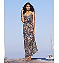 Floral Tapestry Print Maxi Dress