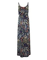 Floral Tapestry Print Maxi Dress