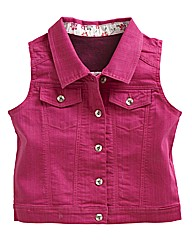 Sleeveless Coloured Denim Gilet