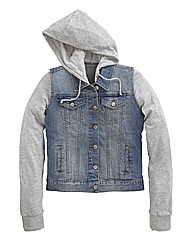 Sweat Hoody Denim Jacket