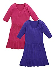 Pack of 2 Tiered Jersey Tunics