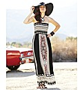 Aztec Print Maxi Dress