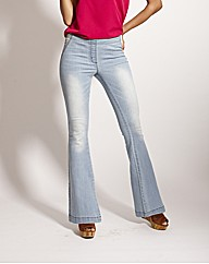 Pull On Flared Jeggings Length 28in