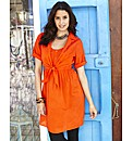 Cotton Shirt Tunic Dress